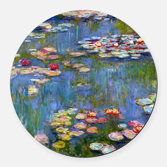 Water Lilies 1916 by Claude Monet Round Car Magnet