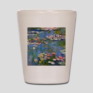Water Lilies 1916 by Claude Monet Shot Glass
