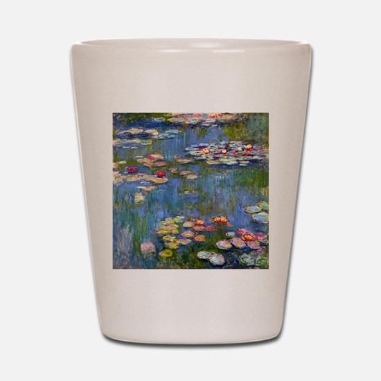 Water Lilies 1916 by Claude Monet Shot Glass
