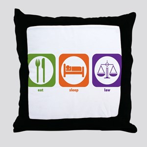 Eat Sleep Law Throw Pillow