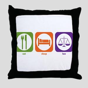 Eat Sleep Law Throw Pillow