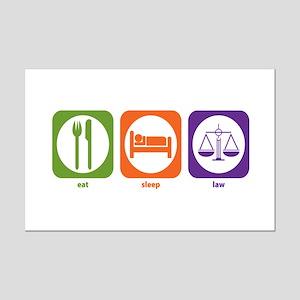 Eat Sleep Law Mini Poster Print