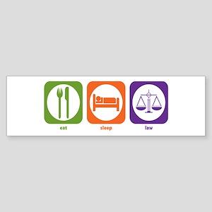 Eat Sleep Law Bumper Sticker