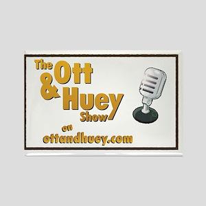 Original Ott  Huey Show Logo Rectangle Magnet