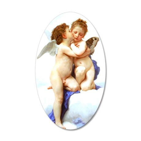 Bouguereau_first_kiss from w 35x21 Oval Wall Decal