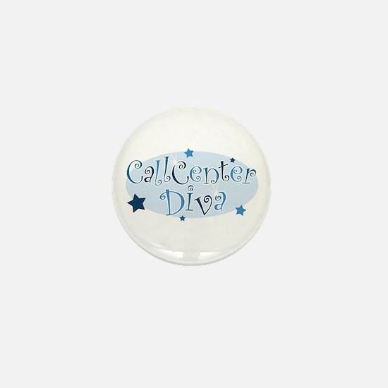 Call Center Diva [blue] Mini Button
