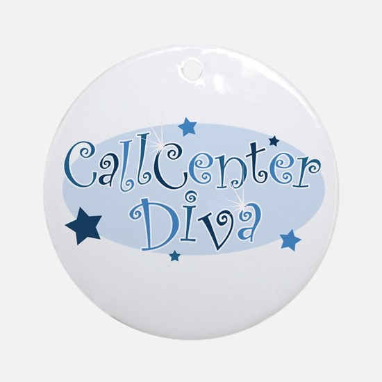 Call Center Diva [blue] Ornament (Round)