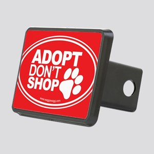Adopt Dont Shop Red Rectangular Hitch Cover