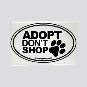 Adopt Dont Shop White-01 Rectangle Magnet