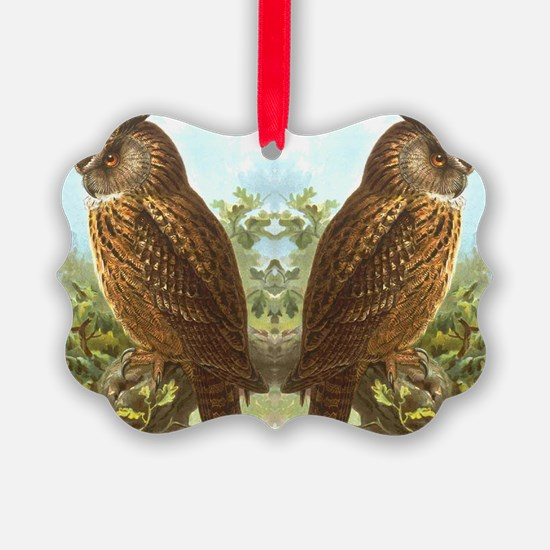 Horned Owls Ornament