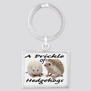 Prickle of Hedgehogs Landscape Keychain