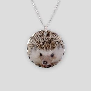 Rosie hedgehog Necklace Circle Charm