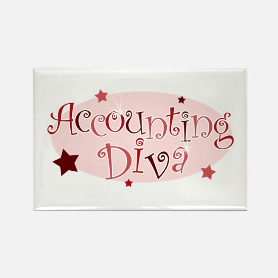 """""""Accounting Diva"""" [red] Rectangle Magnet"""