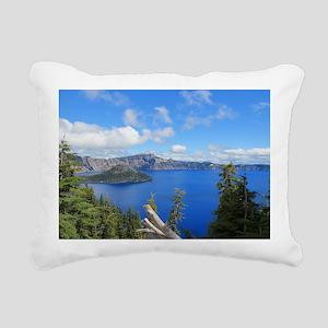 Crater Lake National Par Rectangular Canvas Pillow