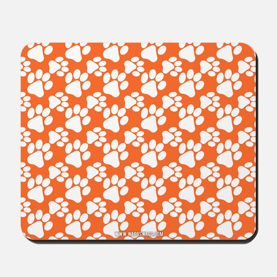 Dog Paws Clemson Orange Mousepad