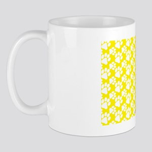 Dog Paws Yellow Mug