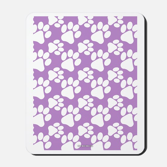Dog Paws Light Purple Mousepad