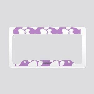 Dog Paws Light Purple License Plate Holder