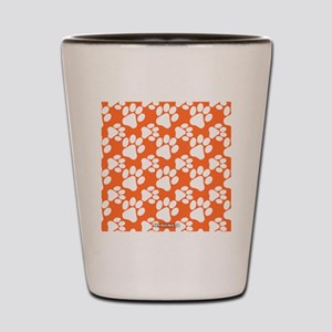 Dog Paws Clemson Orange Shot Glass