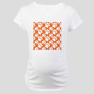 Dog Paws Clemson Orange Maternity T-Shirt