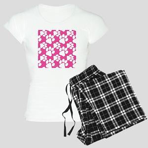 Dog Paws Bright Pink Women's Light Pajamas