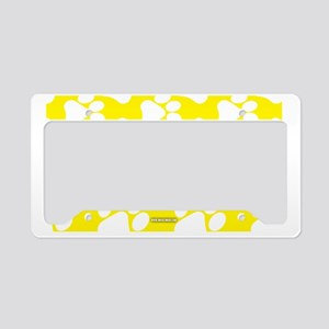 Dog Paws Yellow License Plate Holder