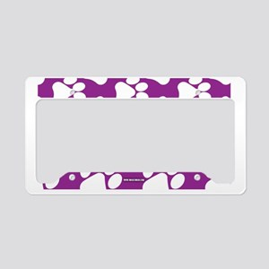 Dog Paws Purple License Plate Holder