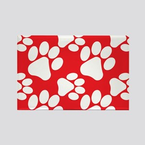 Cute Dog Paws Rectangle Magnet