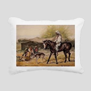 Bedouin Rider Rectangular Canvas Pillow