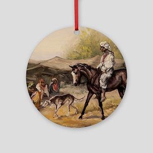 Bedouin Rider Round Ornament