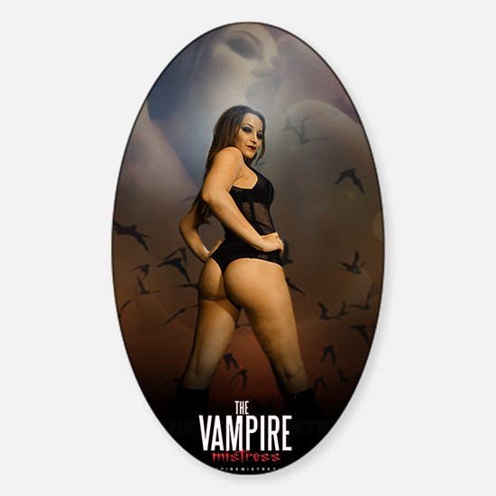 The Vampire Mistress Poster Sticker (Oval)