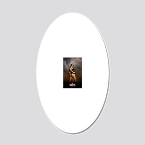 The Vampire Mistress Poster 20x12 Oval Wall Decal