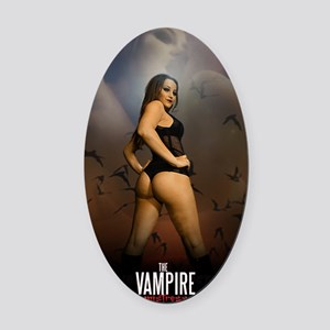 The Vampire Mistress Poster Oval Car Magnet
