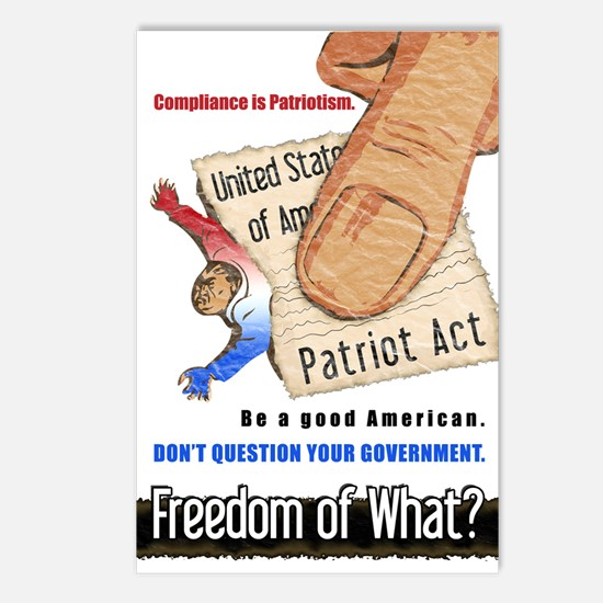 Freedom Political Postcards (8 pk)