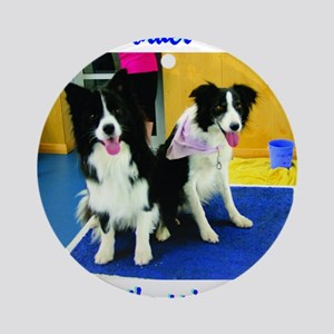 Our Border Collies, Two for the Pri Round Ornament