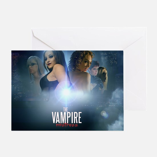 The Vampire Mistress Collage Greeting Card