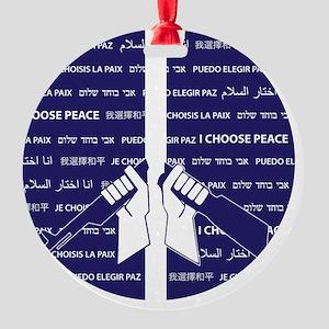 I Choose Peace Round Ornament