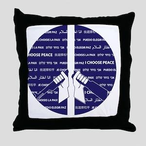 I Choose Peace Throw Pillow