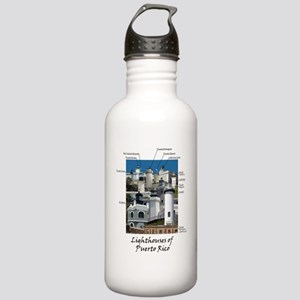 Lighthouses of Puerto  Stainless Water Bottle 1.0L