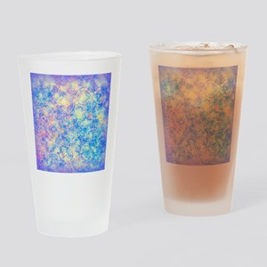 Watercolor Paisley Drinking Glass