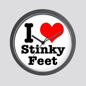 I Heart (Love) Stinky Feet Wall Clock