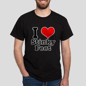 I Heart (Love) Stinky Feet Dark T-Shirt