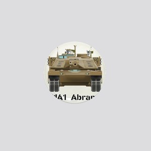 M1A1 Abrams MBT Front View Mini Button