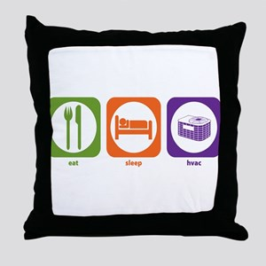 Eat Sleep HVAC Throw Pillow