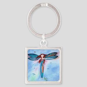 Dragon Fairy Square Keychain