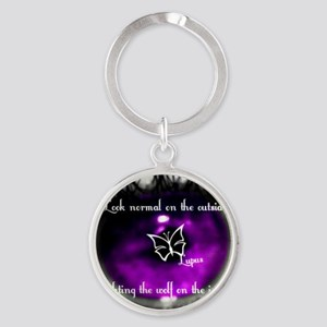 Through the eye of lupus Round Keychain