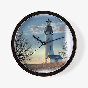 Sunset_Lighthouse Wall Clock
