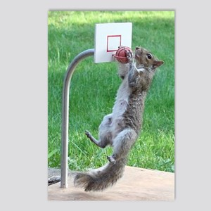 Squirrel Slam Dunking Bas Postcards (Package of 8)