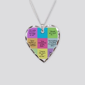 Labyrinth Quotes Necklace Heart Charm