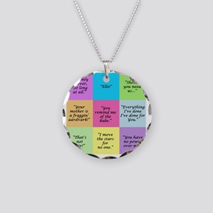 Labyrinth Quotes Necklace Circle Charm